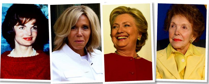 Rozrzutne pierwsze damy: Jackie Kennedy, Nancy Reagan, Hillary Clinton, Brigitte Macron