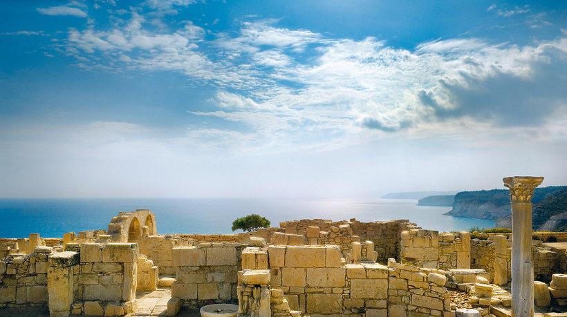 ruiny starożytnego miasta Kurion