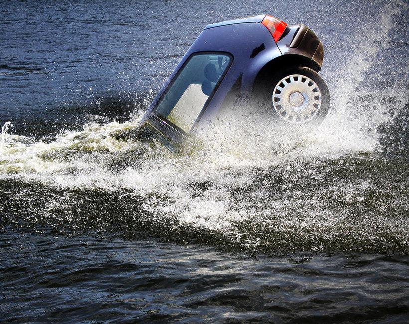 Samochód, tragedia, Świnoujście, morze