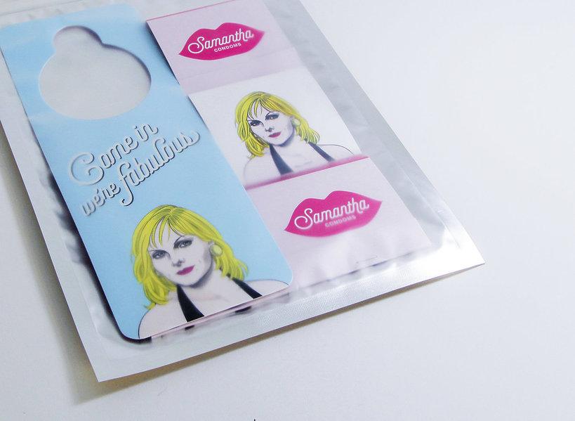 Seks w wielkim mieście, prezerwatywy, Samantha Jones, prezerwatywy inspirowane seksem w wielkim mieście