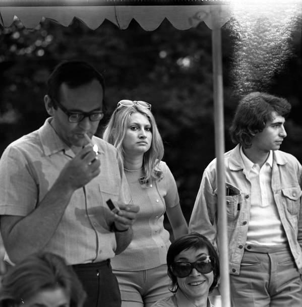 Seweryn Krajewski, Opole, czerwiec 1971, od lewej: Wojciech Gielżyński, jego żona Maria Giełżyńska, Seweryn Krajewski