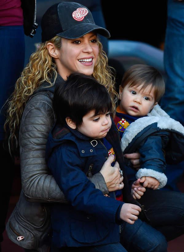 Shakira, dzieci Shakiry, Milan i Sasha Pique, Barcelona, Hiszpania, 28.11.2015 rok