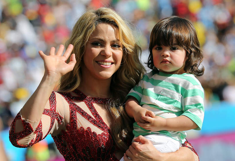 Shakira, Milan Pique, Rio de Janeiro, Brazylia, 13.07.2014 rok