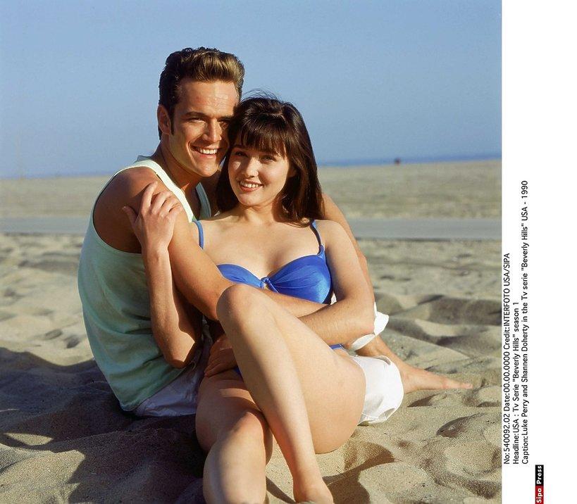 Shannen Doherty i Luke Perry - historia przyjaźni aktorów Beverly Hills 90210