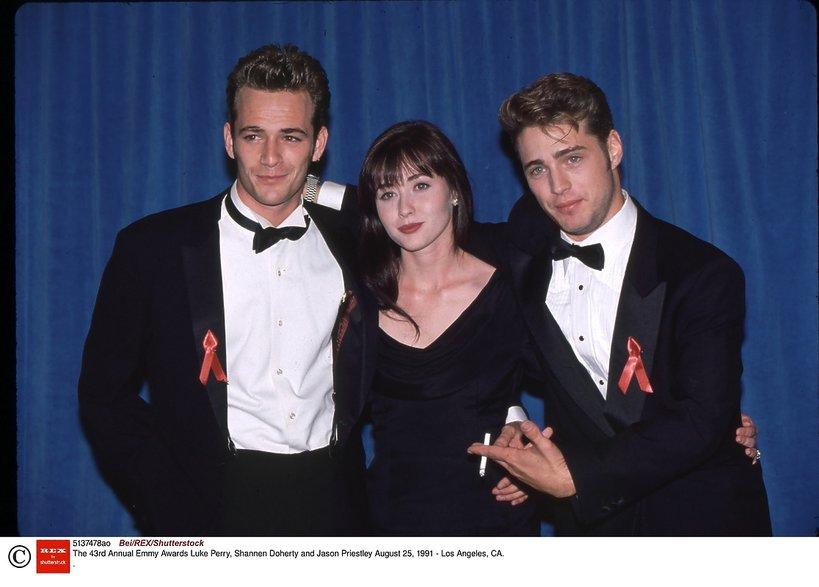 Shannen Doherty i Luke Perry oraz Jason Priestley - historia przyjaźni aktorów Beverly Hills 90210