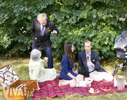 sobowtóry brytyjskiej rodziny królewskiej na pikniku