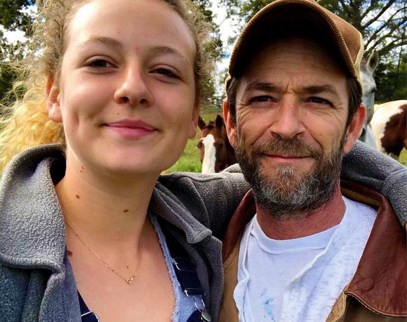 Sophie Perry, córka Luke'a Perry'ego z ojcem