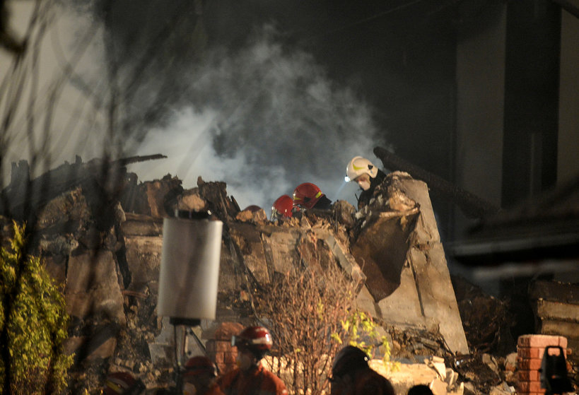 Szczyrk, 4.12.2019, zawalił się trzykondygnacyjny budynek przy Leszczynowej
