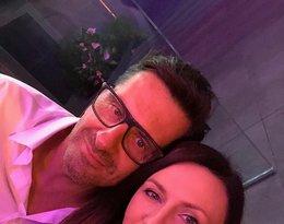 Tak na 30. urodzinach Anny i Roberta Lewandowskich prezentowała się Monika Pyrek z partnerem