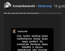 Tomasz Barański komentuje zamieszanie wokół Tańca z gwiazdami i Justyny Żyły