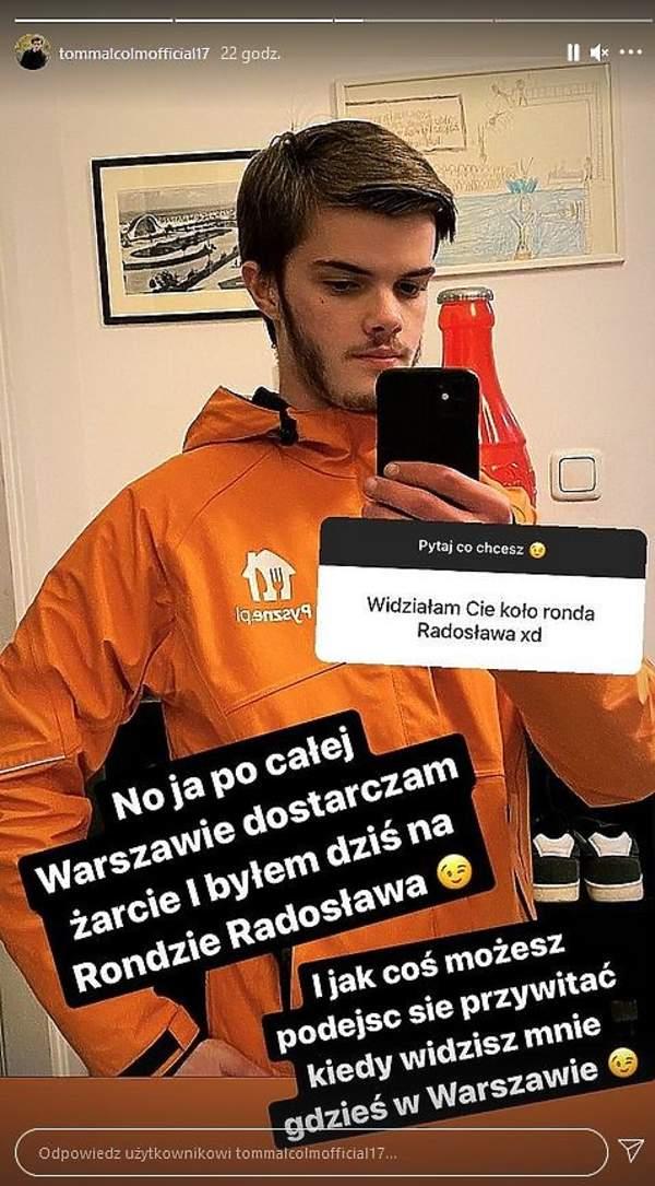 Tomasz Malcolm, syn Moniki Richardson, na Instagramie o zespole Aspergera