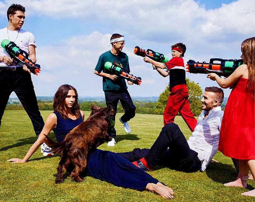 Victoria Beckham, David Beckham, rodzina Beckhamów, jamnik