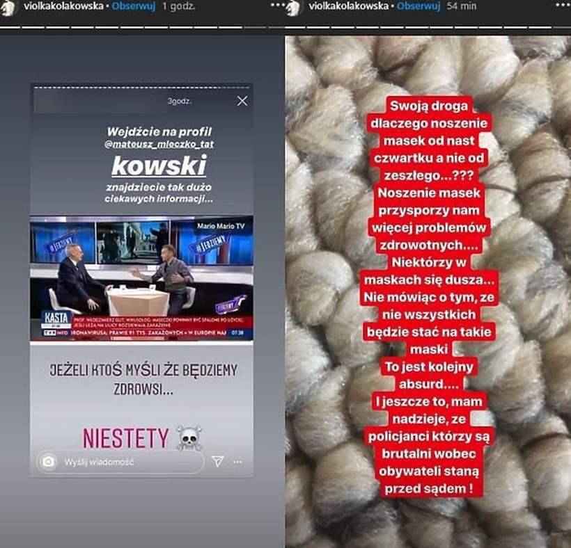Viola Kołakowska, Instagram, koronawirus, epidemia, pandemia