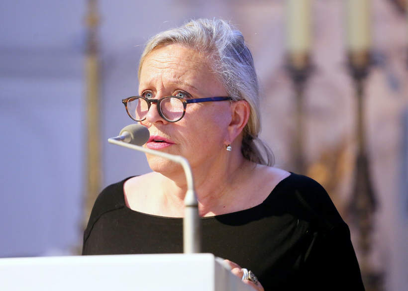 Witold Sadowy, pogrzeb, Warszawa, 15.06.2021 rok, Krystyna Janda