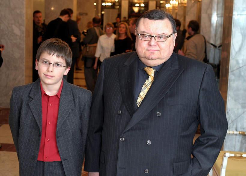 Wojciech Mann, Marcin Mann, syn Wojciecha Manna, 15.03.2004 r.