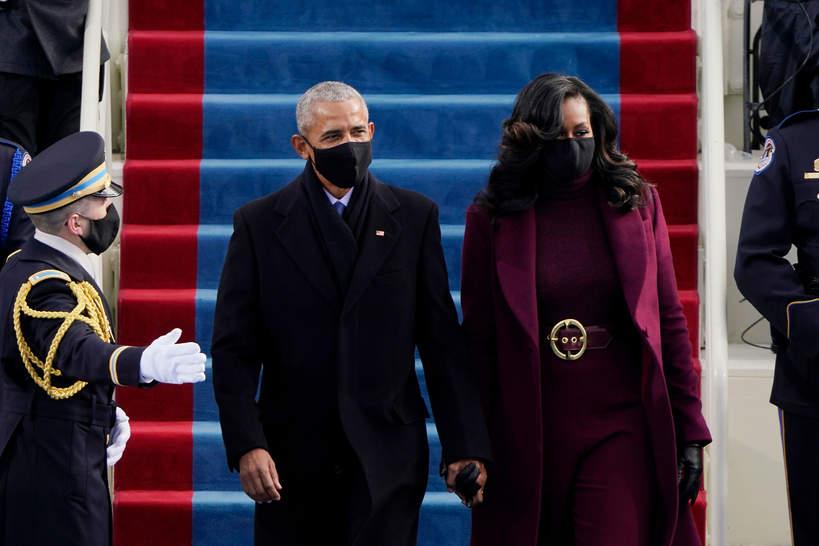 Zaprzysiężenie Joe Bidena, Barack Obama, Michelle Obama, 20.01.2021