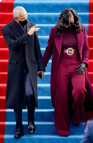 Zaprzysiężenie Joe Bidena, Barack Obama, Michelle Obama, George W. Bush, Laura Bush, 20.01.2021