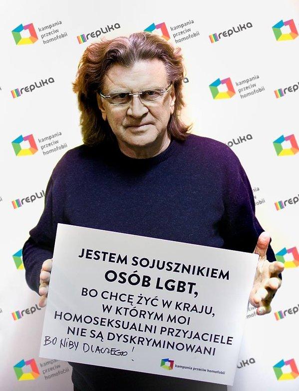 """Zbigniew Wodecki w kampanii """"Ramię w ramię po równość"""""""