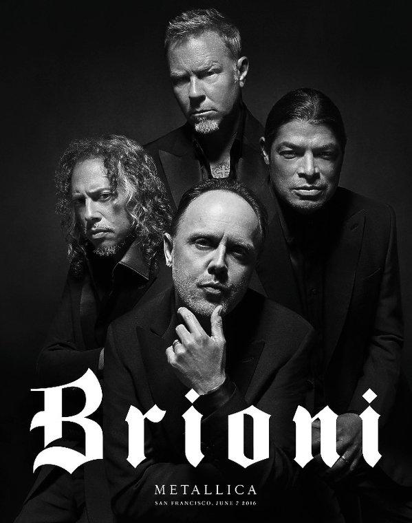 zespół Metallica w kampanii Brioni