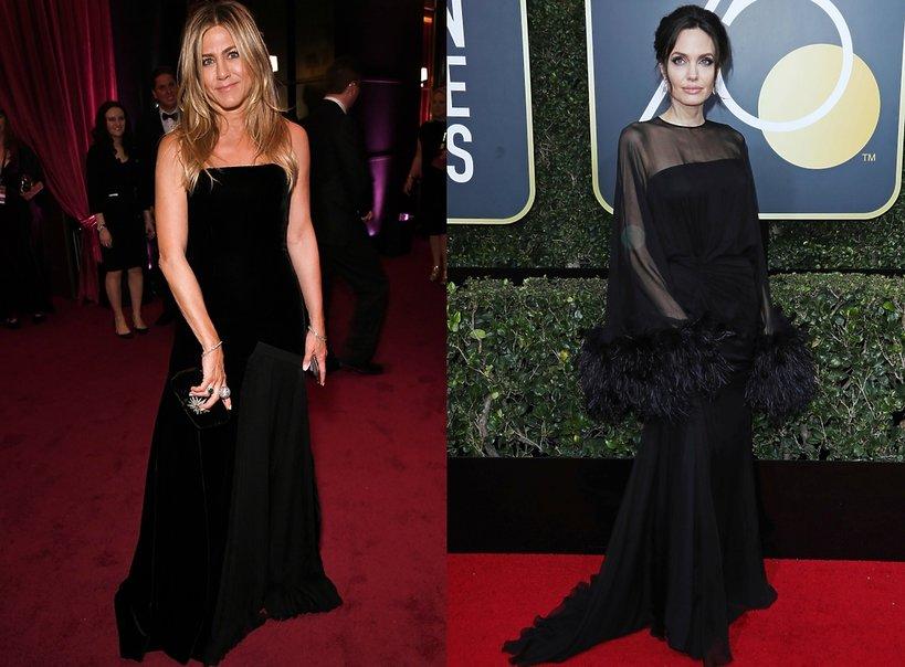 Złote Globy 2018: Jennifer Aniston, Angelina Jolie
