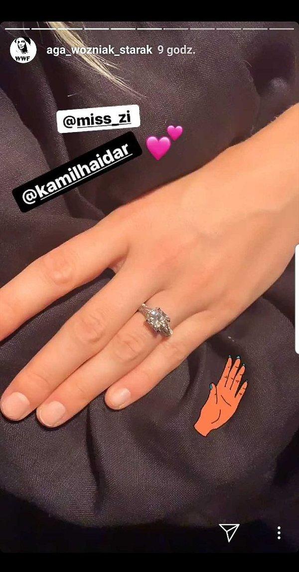 Zofia Ślotała, pierścionek zaręczynowy Zosi Ślotały