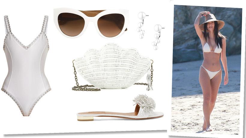 Look na plażę - biel