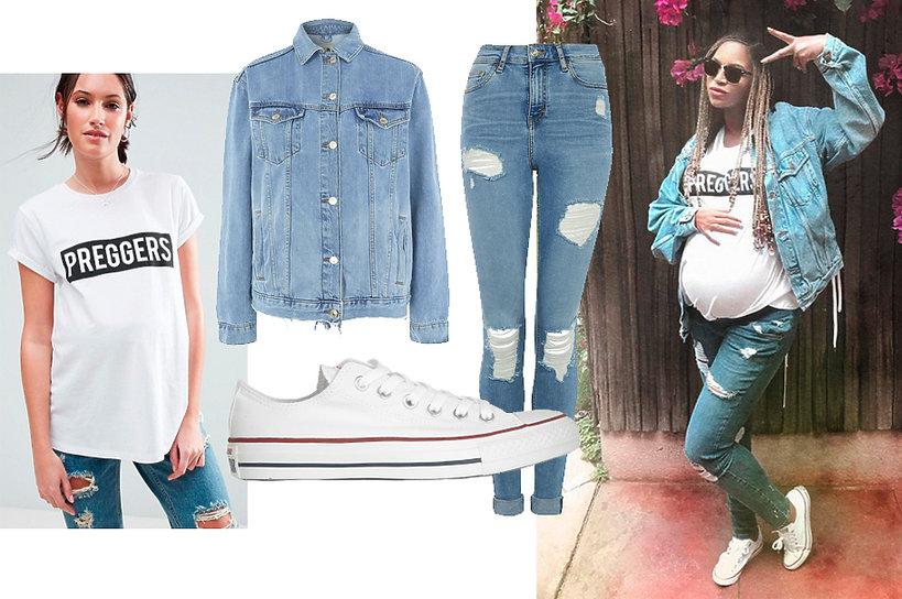 Beyoncé w ubraniach marki Topshop