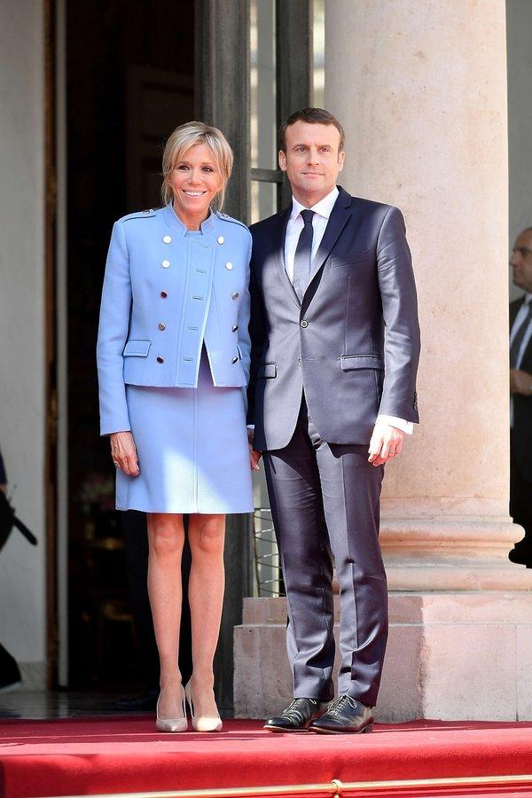 Brigitte Trogneux - nowa pierwsza dama Francji podczas uroczystości zaprzysiężenia prezydenta Emmanuela Macron