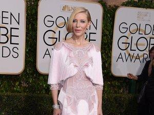 Cate Blanchett w różowej opalizującej sukni