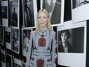 Cate Blanchett we wzorzystej sukni