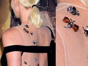 Charlize Theron w zdobionej biżuteryjnymi owadami sukni od Diora