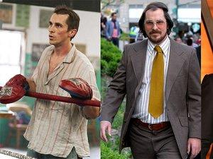 """Christian Bale w filmach: """"Fighter"""" (2010) , """"American Hustle"""" (2013) i na premierze filmu """"Exodus: Bogowie i królowie"""""""