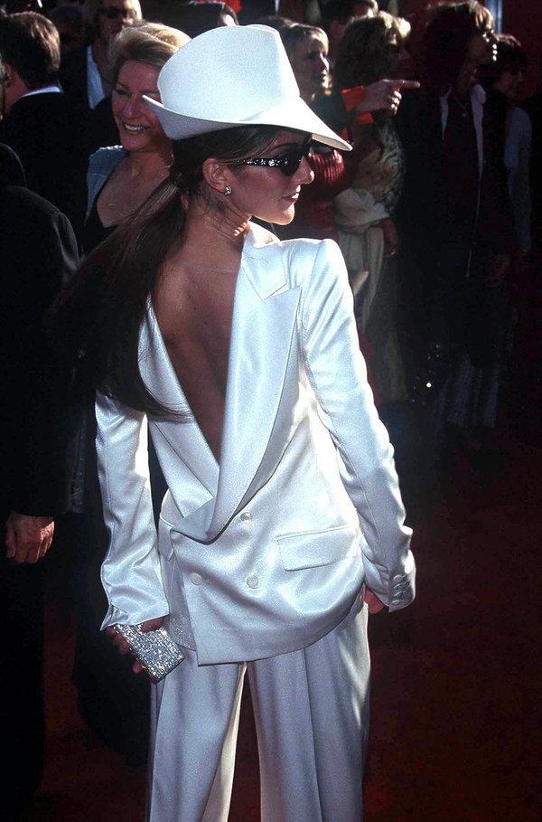 Céline Dion na gali rozdania Oscarów w 1999 roku