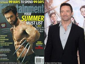 """Hugh Jackman jako Wolverine z filmu """"X-Men"""" i na premierze """"Piotruś. Wyprawa do Nibylandii"""" (2015) w Nowym Jorku"""