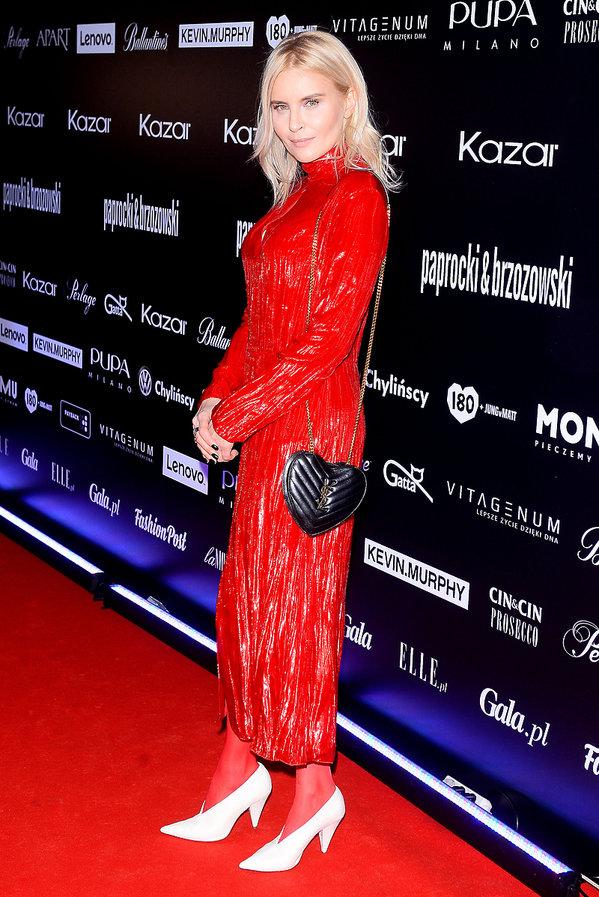 Joanna Horodyńska w białych butach
