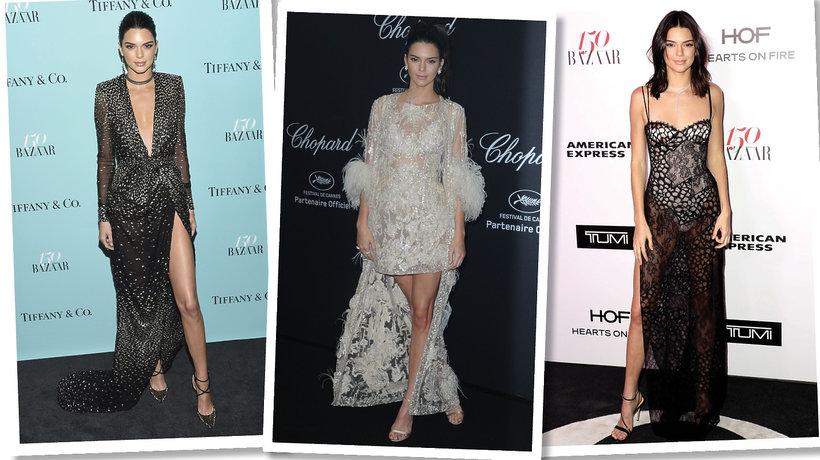 Kendall Jenner na wieczornych imprezach
