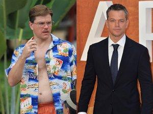 """Matt Damon w filmie """"Intrygant"""" (2009) i na premierze """"Marsjanina"""" (2015) w Londynie"""