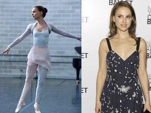 """Natalie Portman w filmie """"Czarny Łabędź"""" (2010) i na gali w Nowym Jorku w 2009 r."""