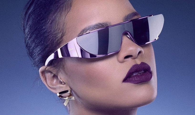 Okulary przeciwsłoneczne Rihanny dla Diora