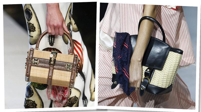 torebki-koszyki na wyiegach: Dolce & Gabbana, Sacai