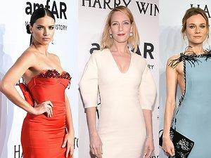 Adriana Lima, Uma Thurman, Diane Kruger, Heidie Klum, Blake Lively w eleganckich sukniach