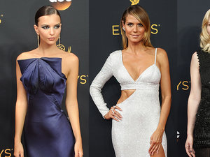 Emily Ratajkowski, Heidi Klum, Kirsten Dunst w eleganckich sukniach