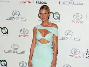 Gwyneth Paltrow w jasnozielonej sukience z wycięciami