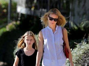 Gwyneth Paltrow z córką na spacerze