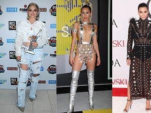 Margaret, Miley Cyrus, Kim Kardashian, Halina Mlynkova w brzydkich stylizacjach