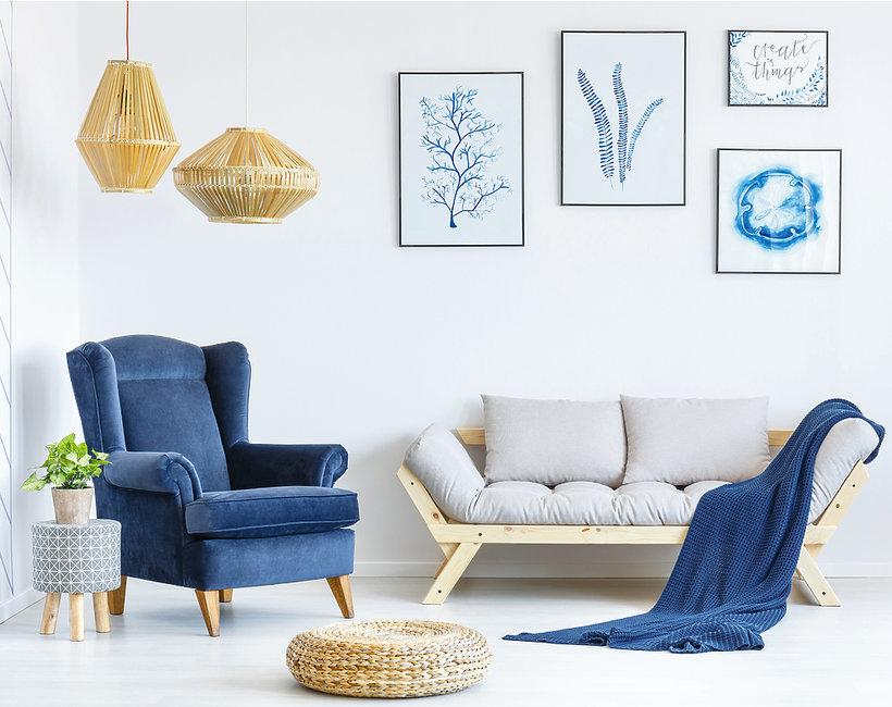 Welur - trend wnętrza 2018 - sofa- pufy - krzesła z weluru