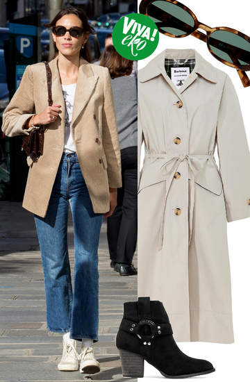Alexa Chung stylizacja w duchu eko ubrania dodatki