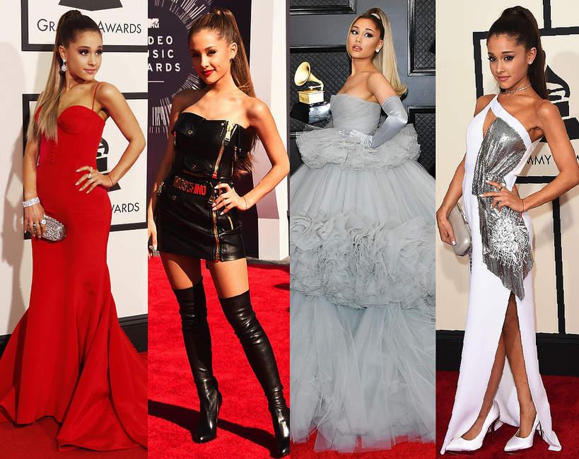 Ariana Grande najlepsze stylizacje slub czerwony dywan