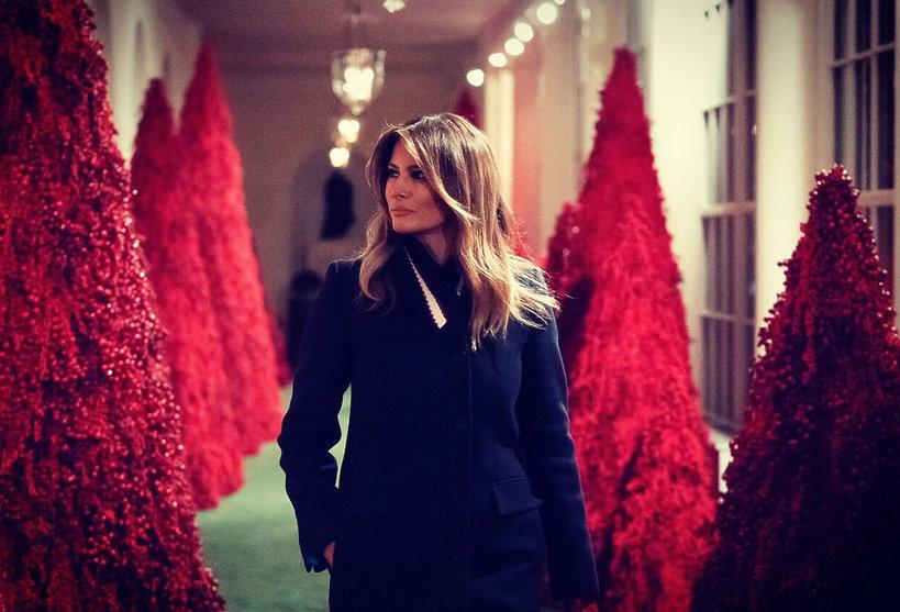 Biały Dom - Melania Trump pokazała dekoracje na Święta Boże Narodzenie 2018 FLOTUS decorations White House
