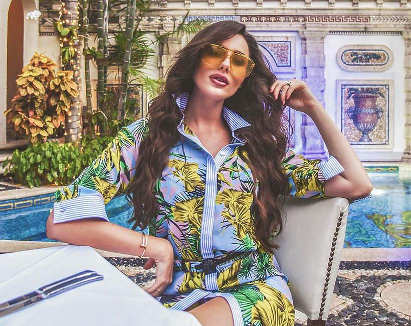 Celia Jaunat i Grzegorz Krychowiak na wakacjach w Miami w Villa Casa Casuarina - willi Versace
